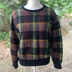 Ralph Lauren Plaid Wool Sweater with lining